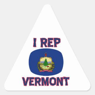 I  Rep Vermont designs Triangle Sticker