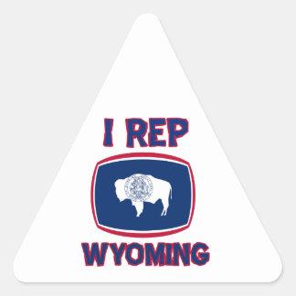 I  Rep Wyoming Triangle Sticker