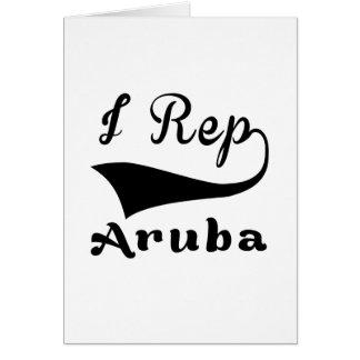 I representante Aruba Tarjeta De Felicitación