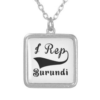 I representante Burundi Colgante Cuadrado