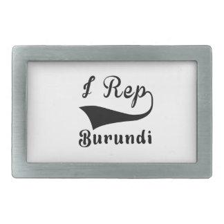 I representante Burundi Hebilla De Cinturón Rectangular