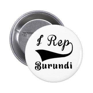 I representante Burundi Pin Redondo De 2 Pulgadas