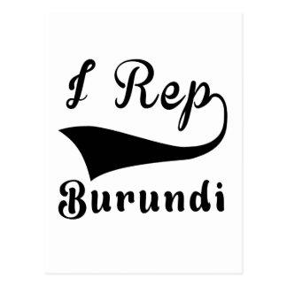 I representante Burundi Tarjeta Postal