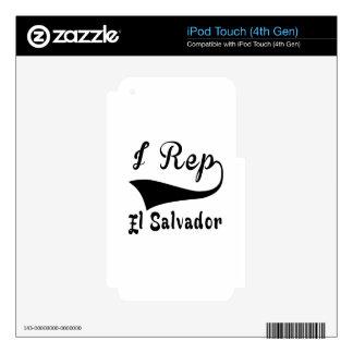 I representante El Salvador Calcomanías Para iPod Touch 4G
