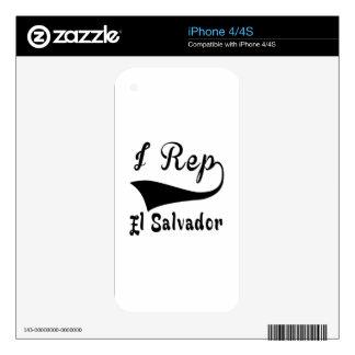 I representante El Salvador iPhone 4S Calcomanías