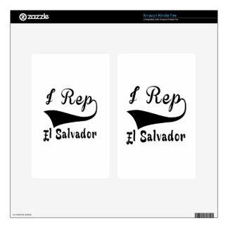 I representante El Salvador Skin Para Kindle Fire