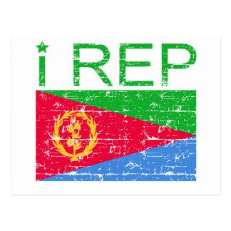 I representante Eritrea Postales