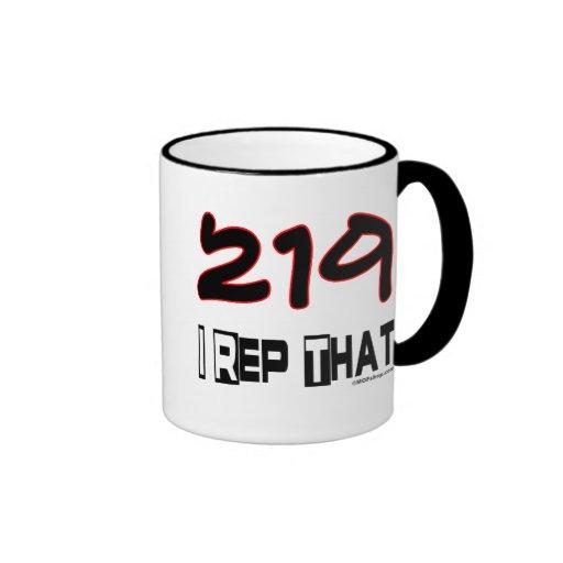 I representante ese código de área 219 taza de café