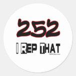I representante ese código de área 252 pegatina redonda