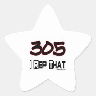 I representante ese código de área 305 pegatina en forma de estrella