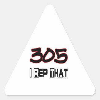 I representante ese código de área 305 calcomania de triangulo personalizadas