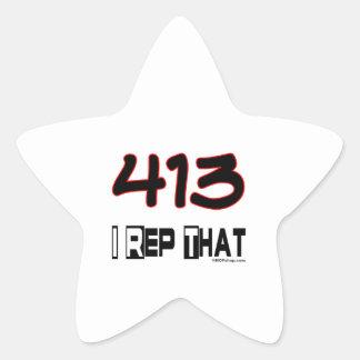 I representante ese código de área 413 pegatina en forma de estrella