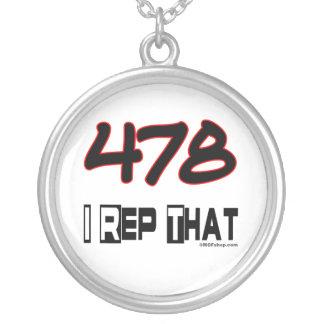 I representante ese código de área 478 colgante redondo