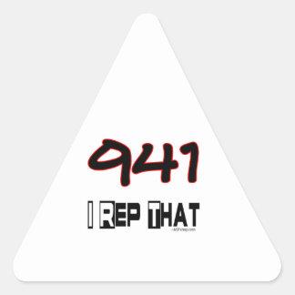 I representante ese código de área 941 pegatina triangular