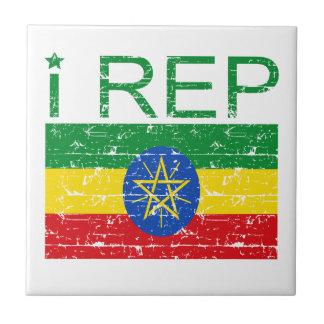 I representante Etiopía Azulejo Cuadrado Pequeño