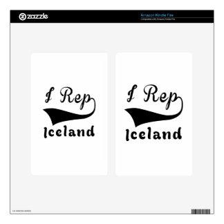 I representante Islandia Kindle Fire Skins