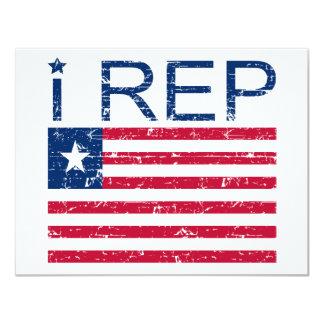 I representante Liberia Invitación 10,8 X 13,9 Cm