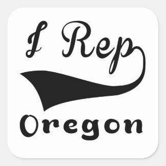 I representante Oregon Pegatina Cuadrada