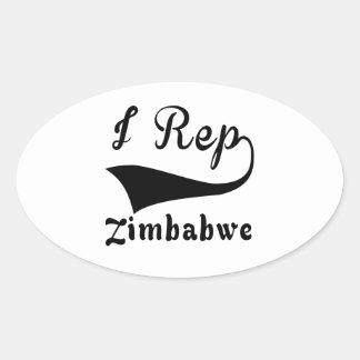 I representante Zimbabwe Pegatina Ovalada