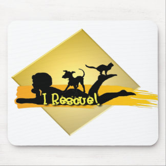 i RESCUE SILHOUETTE Mouse Pad