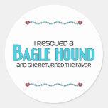 I Rescued a Bagle Hound (Female) Dog Adoption Stickers