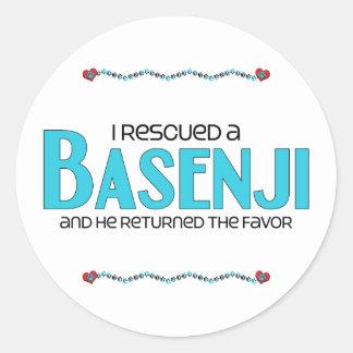 I Rescued a Basenji (Male Dog) Round Stickers