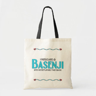 I Rescued a Basenji (Male Dog) Tote Bag