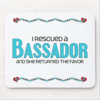 I Rescued a Bassador (Female) Dog Adoption Design Mouse Pad