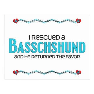 I Rescued a Basschshund (Male) Dog Adoption Design Postcard