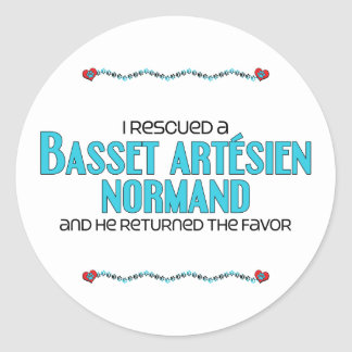 I Rescued a Basset Artésien Normand (Male Dog) Stickers