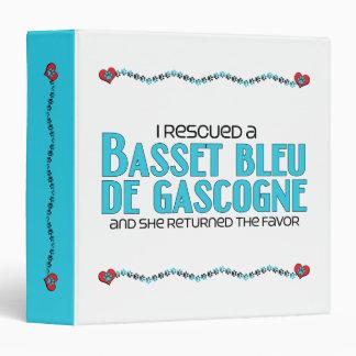 I Rescued a Basset Bleu de Gascogne (Female Dog) Vinyl Binder