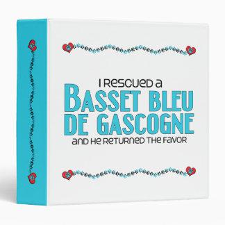 I Rescued a Basset Bleu de Gascogne (Male Dog) Vinyl Binders