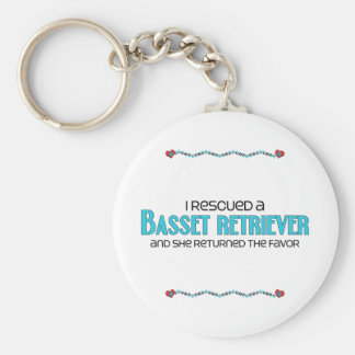 I Rescued a Basset Retriever (Female) Dog Adoption Keychain