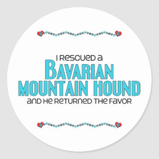 I Rescued a Bavarian Mountain Hound (Male Dog) Round Stickers