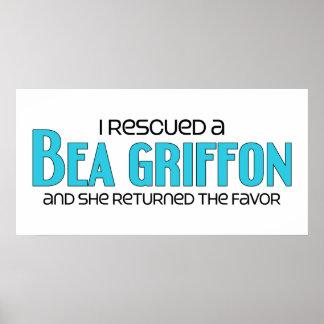 I Rescued a Bea Griffon (Female) Dog Adoption Print