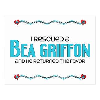 I Rescued a Bea Griffon (Male) Dog Adoption Design Postcard