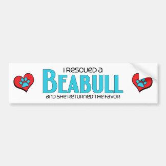 I Rescued a Beabull (Female) Dog Adoption Design Car Bumper Sticker