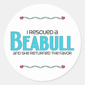 I Rescued a Beabull (Female) Dog Adoption Design Sticker