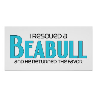 I Rescued a Beabull (Male) Dog Adoption Design Poster