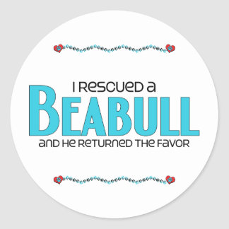 I Rescued a Beabull (Male) Dog Adoption Design Stickers