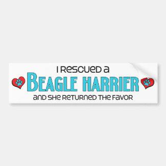 I Rescued a Beagle Harrier (Female Dog) Car Bumper Sticker