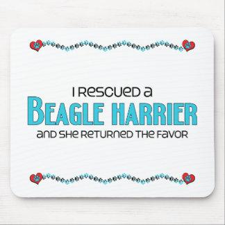 I Rescued a Beagle Harrier (Female Dog) Mouse Pad