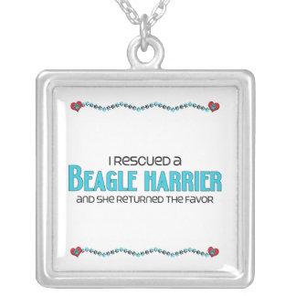 I Rescued a Beagle Harrier (Female Dog) Square Pendant Necklace