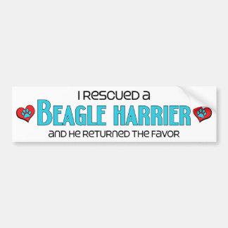 I Rescued a Beagle Harrier (Male Dog) Car Bumper Sticker