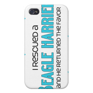 I Rescued a Beagle Harrier (Male Dog) iPhone 4/4S Cases
