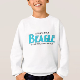 I Rescued a Beagle (Male Dog) Sweatshirt