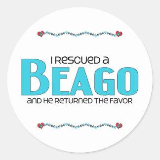 I Rescued a Beago (Male) Dog Adoption Design Stickers