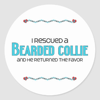 I Rescued a Bearded Collie (Male Dog) Sticker