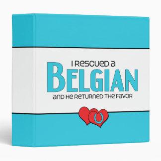 I Rescued a Belgian (Male Horse) 3 Ring Binder