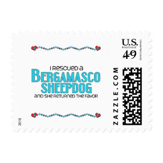 I Rescued a Bergamasco Sheepdog (Female Dog) Postage Stamps